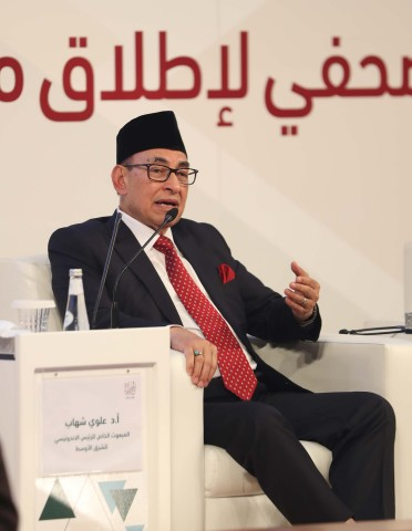 Special Envoy of the Indonesian President for the Middle East Dr. Alwi Shihab (Photo: AETOSWire)