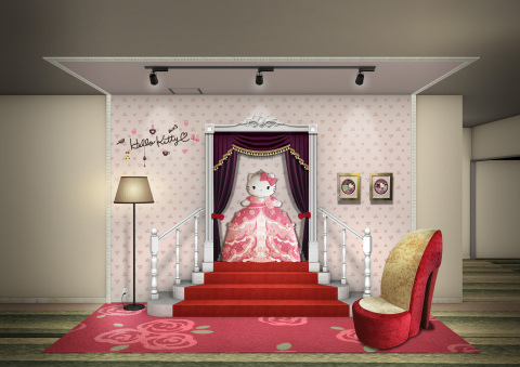 """In Keio Plaza Hotel Tama, a new photo spot based upon the motif of """"Princess Kitty"""" will be created in March 2019. (C) 1976, 2018 SANRIO CO., LTD."""