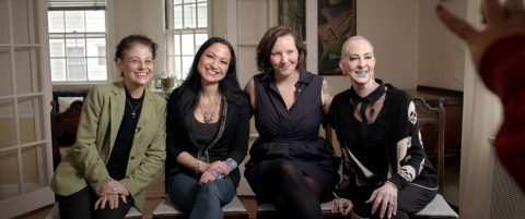 'DRUG$,' a new documentary by Foxhound Productions that explores the mystery of modern medicine's skyrocketing price tag here in the U.S. and how it affects people struggling to stay alive, features humanizing interviews with cancer patients (L to R) MaryAnne-Dicanto, Kiku-Collins, Dana-Donofree, Champagne-Joy. Sadly, two of the four women did not survive their illness to see the film premiere. (Photo: Business Wire)
