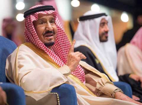 The Custodian of the Two Holy Mosques, King Salman bin Abdulaziz Al Saud (Photo: AETOSWire)  - Picture One  Photo AETOSWire  - Guardião das Duas Mesquitas Sagradas presente na Cerimônia de abertura de Al Janadria