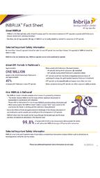 INBRIJA™ (levodopa inhalation powder) fact sheet, including information about INBRIJA, its development and OFF periods