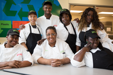 Liberty's Kitchen trains motivated young adults to access employment and education in New Orleans. Photo courtesy of Liberty's Kitchen.