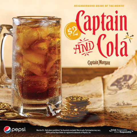 Ahoy, Matey! Drink like a Captain with Applebee's Newest Neighborhood Drink of the Month, the $2 Captain and Cola (Graphic: Business Wire)