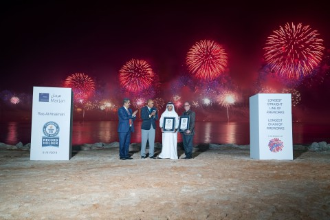 2019 Ras Al Khaimah New Year's Eve Fireworks Secures 2 GUINNESS WORLD RECORDS™ (Photo: AETOSWire)