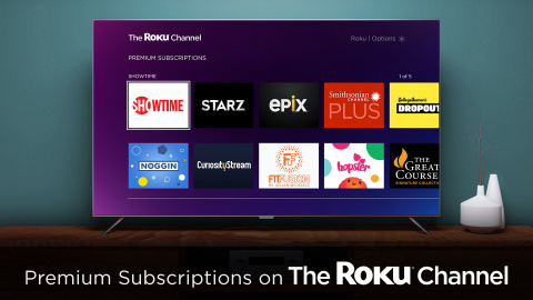 Premium Subscriptions on The Roku Channel (Photo: Business Wire)