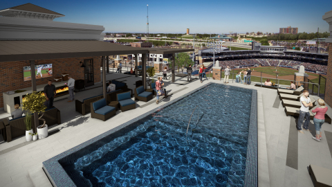 Along with a rooftop pool, The View offers stunning views of the Tulsa skyline. (Photo: Business Wire)