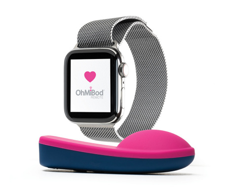 The OhMiBod Remote App for the Apple Watch features new functionality that uses your heartbeat to drive the vibrations of OhMiBod connected personal massagers. (Photo: Business Wire).