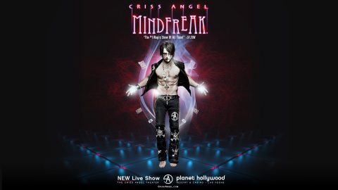Criss Angel is using HYPERVSN's 3D holographic technology to engage audiences attending MINDFREAK® (Photo: Business Wire)