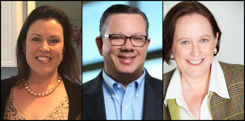 Shared Assessments Program Appoints Risk Management Visionaries as 2019 Steering Committee and Advisory Board Leadership. From left to right, Emily Irving, Glen Sgambati and Linnea Solem. (Photo: Business Wire)