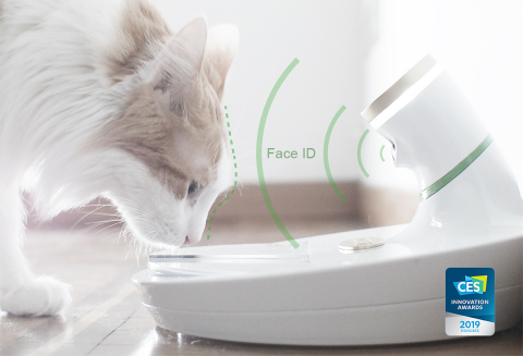 Mookkie uses facial recognition to identify the exact pet approved for feeding. (Photo: Business Wire)