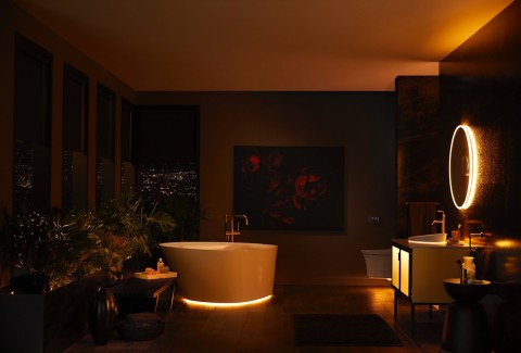 KOHLER Veil Lighted Bathroom Collection with KOHLER Konnect (Photo: Business Wire)