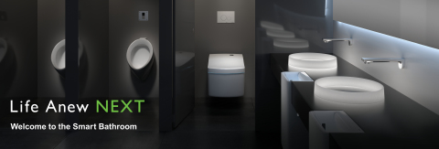 """This year, TOTO expands its overarching """"Life Anew"""" global brand message with """"Life Anew NEXT,"""" a new key message that encompasses smart, fully connected bathrooms and enhanced intelligent toilet experiences. (Photo: Business Wire)"""