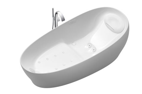 A CES 2019 Innovation Awards Honoree, TOTO's Flotation Tub simulates zero gravity by offering bathers a weightless experience that eliminates the mechanical energy/load on their joints. (Photo: Business Wire)
