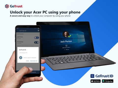 Unlock your Acer PC using your phone. (Photo: Business Wire)