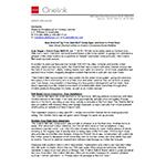Onelink Bell Press Release