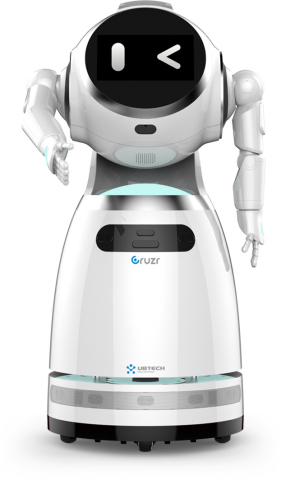 Cruzr, a customized, cloud-based, intelligent humanoid service robot, with added features and refinements for increased performance and reliability. (Photo: Business Wire)