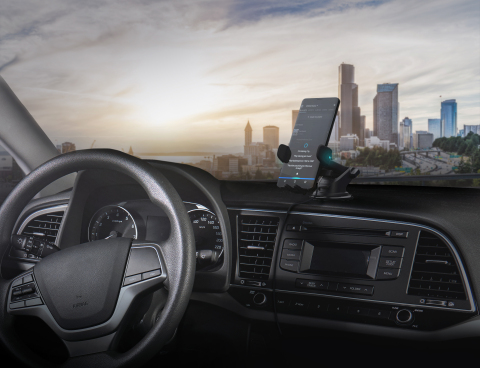 The Easy One Touch Connect from iOttie is one of the first automotive accessories built using the Alexa Mobile Accessory Kit. (Photo: Business Wire)