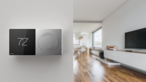The Daikin One+ smart thermostat is the first smart thermostat to offer full two-way communications and serve as a controller for sophisticated, communicating HVAC systems. (Photo: Business Wire)