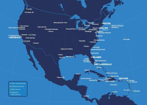 JetBlue serves more destinations and offers more flights than any carrier in Logan airport's history.