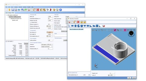 Image 1. New CAD calculators allow users to utilize more cost driver information directly from a 3D ...