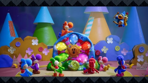 Yoshi's Crafted World, a new adventure and the first game starring Yoshi for Nintendo Switch, launches exclusively for the system on March 29. (Photo: Business Wire)