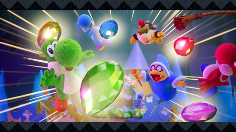 In the game, you play as an adorable Yoshi exploring a big world crafted from household items like boxes and paper cups, journeying through each themed stage to solve puzzles and find hidden treasures. (Photo: Business Wire)