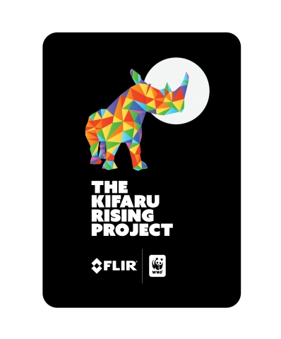 FLIR and World Wildlife Fund collaborate on the Kifaru Rising Project, a multi-year effort to deploy FLIR thermal imaging technology to help eliminate rhino poaching in 10 parks in Kenya by 2021. (Graphic: Business Wire)