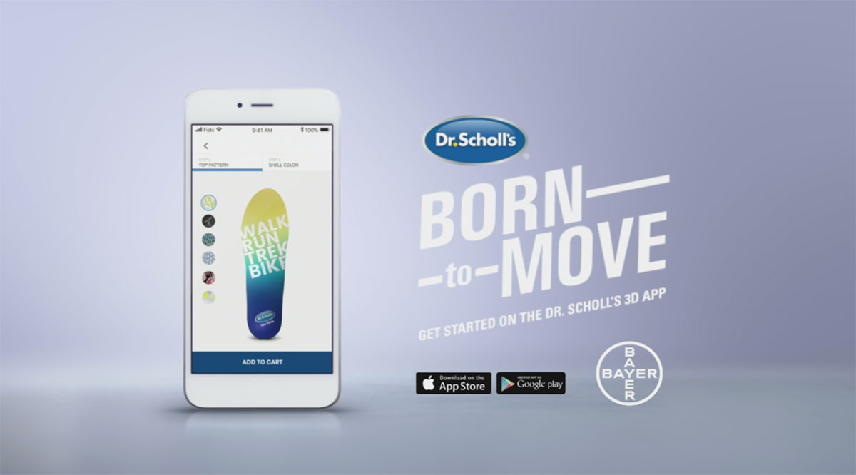 Dr. Scholl's new custom insoles, powered by Wiivv Fit Technology.