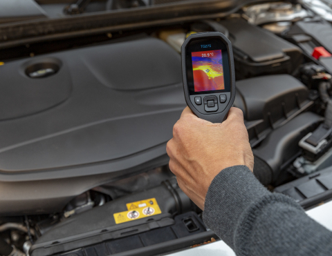 The TG275 is FLIR's first dedicated thermal camera for automotive technicians and home mechanics. (Photo: Business Wire)