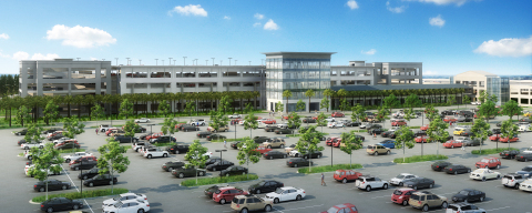Rendering of the new parking garage at Charleston International Airport (Graphic: Business Wire)