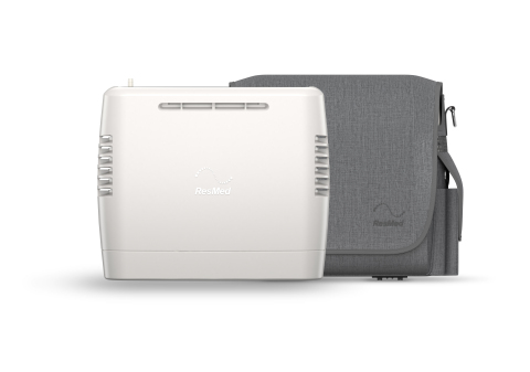 ResMed Mobi portable oxygen concentrator, with carry bag (Photo: Business Wire)