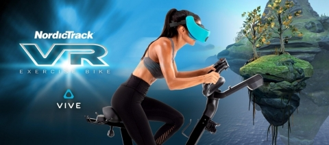 NordicTrack® introduces a new way to play with the new VR Bike, transporting users into new universes with cutting-edge virtual reality technology. (Photo: Business Wire)
