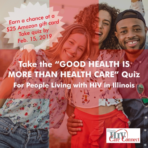 People Living with HIV in Illinois: Earn A Chance at a $25 Amazon Gift Card by Taking the 'Good Heal ...