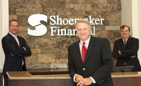 Pictured, from left to right, are Jeremy Jones, Jim Shoemaker and Mac Jenkins, all with Shoemaker Financial. (Photo: Business Wire)