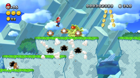 Join Mario, Luigi and pals for single-player or multiplayer* fun anytime, anywhere with New Super Ma ...