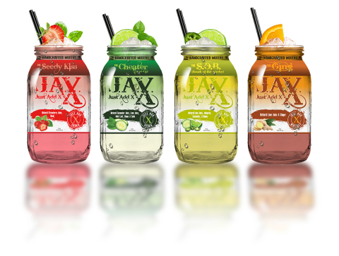 Just Add X (J.A.X.) is an innovative new line of premium, high-quality mixologist inspired premade mixes from Lance Bass. This new product line is designed to simplify the mixing process by adding your spirit of choice, ice – then shake and enjoy. (Photo: Business Wire)