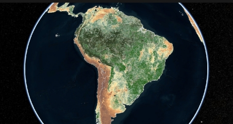 Indigoâs satellite-based Crop Health Index in South America (Graphic: Business Wire)
