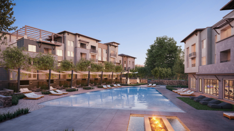 JPI has closed construction financing on Jefferson Vista Canyon, a $190 million, 480-home luxury apartment community. (Photo: Business Wire)