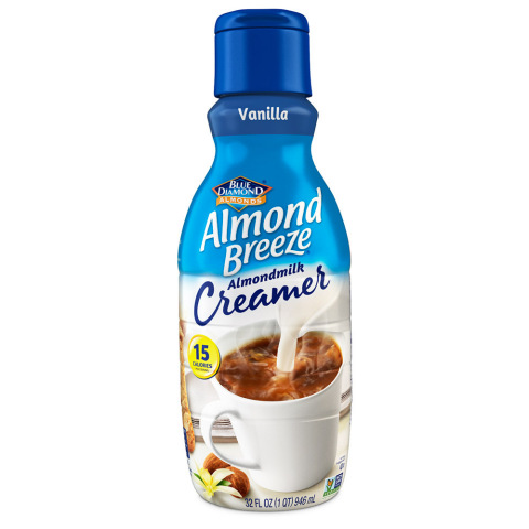 Blue Diamond Almond Breeze Almondmilk Creamer Vanilla (Photo: Business Wire)