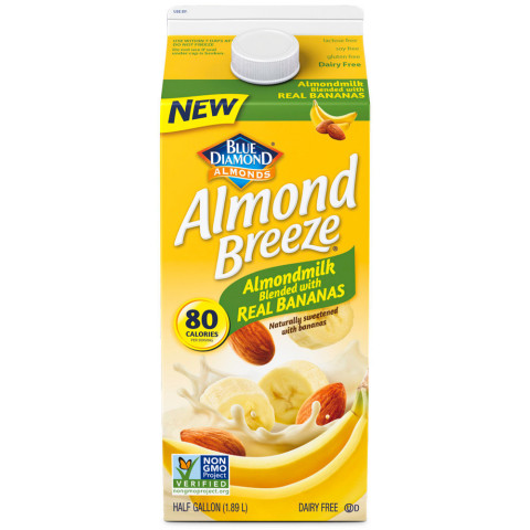 NEW Blue Diamond Almond Breeze Almondmilk Blended with Real Bananas (Photo: Business Wire)