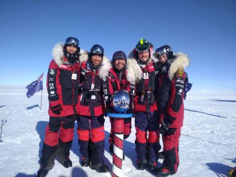 Taiwan's First Antarctica Expedition Team Successfully Reaches South Pole. (Photo: Business Wire)