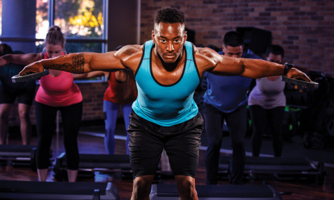 BodyPump is one of the many popular group exercise programs available at 24 Hour Fitness clubs nationwide. (Photo: Business Wire)