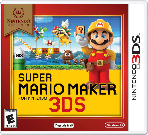 In the Super Mario Maker for Nintendo 3DS game, build, play and share your own side-scrolling Super Mario levels using a wide variety of tools. (Graphic: Business Wire)
