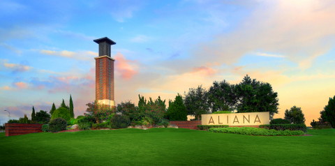 Houston's Aliana master-planned community is ranked Top 30 in sales nationally by prestigious real estate firms (Photo: Business Wire)