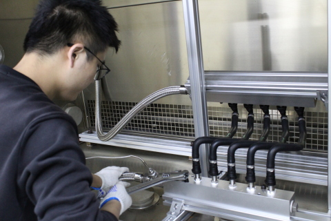 Fluid transfer system component testing at Smithers Rapra's new Suzhou product testing lab (Photo: Business Wire)