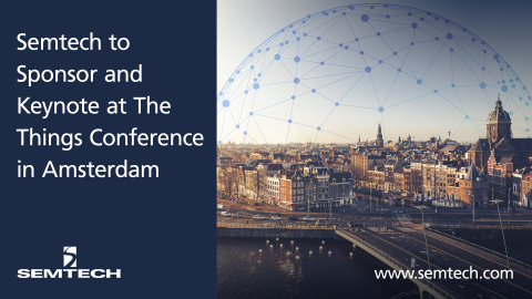Semtech to Sponsor and Keynote at Upcoming The Things Conference in Amsterdam (Graphic: Business Wir ...