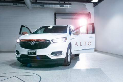 Alto, a new Dallas-based on-demand rides service, launches in Dallas, focused on safety and hospitality. Alto manages and operates its dedicated fleet of new, safe, and well-maintained vehicles. Alto's features include in-app music, lighting, and conversation controls, as well as app-enabled vehicle identification, via exterior vehicle lighting. (Photo: Business Wire)