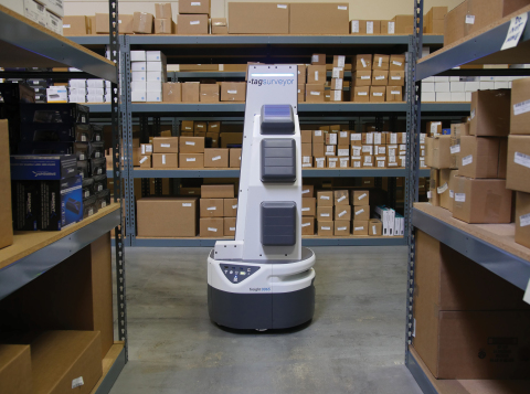 Ryder has partnered with Fetch Robotics to employ technologies like the TagSurveyor, which automates cycle counting and reduces inventory loss by collecting, locating, and tracking RFID tags on products and bins within warehouses. (Photo: Business Wire)