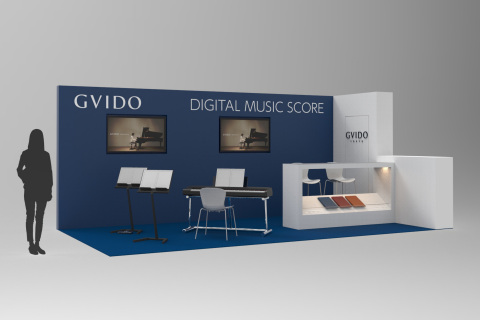 GVIDO Booth. The actual booth may differ from the image. (Graphic: Business Wire)