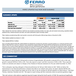 Ferro updates 2018 guidance